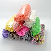 bandas de goma de silicona bandz twistz DIY pulseras de color arco iris del estilo telar para los niños con 600pcs bandas y 24 s-clips