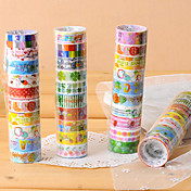 adhesivos scrapbooking adhesivas de lujo con cinta adhesiva de 2,2 m (10 piezas de color al azar)