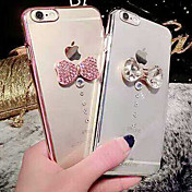 용 아이폰6케이스 / 아이폰6플러스 케이스 크리스탈 / 도금 / 투명 케이스 뒷면 커버 케이스 3D카툰 캐릭터 하드 PC iPhone 6s Plus/6 Plus / iPhone 6s/6
