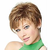 여성 인조 합성 가발 잛은 밝은 브라운 의상 가발 할로윈 가발 카니발 가발 의상 가발