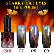 1pcs ana gato estrellado 12colors 12ml gel de ojos de color duradero esmalte de uñas 9.7