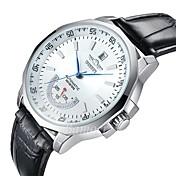 WINNER Hombre Reloj de Vestir Reloj de Pulsera El reloj mecánico Calendario Resistente al Agua Reloj Casual Esfera GrandeCuerda