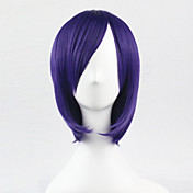 Mujer Pelucas sintéticas Sin Tapa Corto Liso Morado Peluca de cosplay Las pelucas del traje