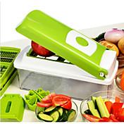 1 piezas Apple Zanahoria Naranja Cebolla Pepino Tomate Cutter & Slicer For de las frutas para vegetal Acero InoxidableMúltiples Funciones