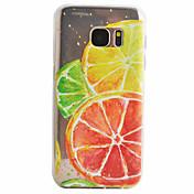 Para Samsung Galaxy S7 Edge Diseños Funda Cubierta Trasera Funda Fruta Suave TPU Samsung S7 edge / S7