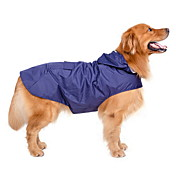 Perro Impermeable Ropa para Perro A Prueba de Agua Paravientos: Sólido Azul Oscuro Rojo
