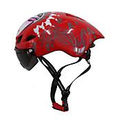 여성용 남성용 남여 공용 자전거 헬멧 6 통풍구 싸이클링 사이클링 산악 사이클링 도로 사이클링 레크리에이션 사이클링 원 사이즈 PC EPS 화이트 레드 블랙 블루