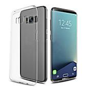 Para Ultrafina Transparente Funda Cubierta Trasera Funda Un Color Suave TPU para Samsung S8 S8 Plus