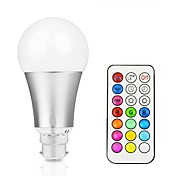 12W Bombillas LED Inteligentes A60(A19) 15 LED Integrado 700-800 lm RGB + Caliente RGB + Blanco Regulable Control Remoto Decorativa V1
