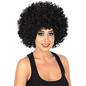 인조 합성 가발 캡 없음 중 컬리 흑옥색 흑인 가발 흑인여성 제품 코스플레이 가발 의상 가발