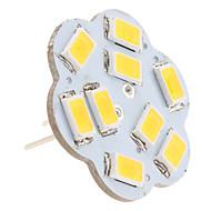 G4 2.5w 9x5630 smd 200-230lm 3000-3500k ciepłe białe światło w kształcie lotosu pionowe pinowe żarówki punktowe (12v)