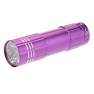 LED Lommelygter Lommelygter LED 90 Lumen 1 Tilstand 5mm Lampe Batterier ikke inkluderede Taktisk for Dagligdags Brug Lilla