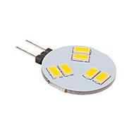 3W G4 Żarówki punktowe LED 6 SMD 5630 260 lm Ciepła biel DC 12 V