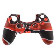 Szilikon tok a PS4 Controller (fekete és piros)