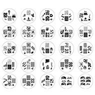 25PCS 2014 Nieuwe Stijl Nail Art Stamp Stempelen Image Template Suits