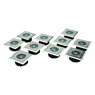 8 Paslanmaz Çelik Beyaz LED Paslanmaz Çelik Güneş Decking Işıklar Set