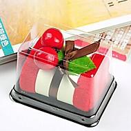생일 선물 케이크 모양 섬유 창조적 타올 (색상 랜덤)