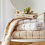 sensleep® 3kpl käsipyyhkeet pakata, vaaleanruskea tai lvory geometrinen muotoilu 100% puuvillaa käsipyyhe