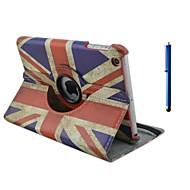 9.7 tuuman 360 asteen kierto lipun kuvio jalustan kotelo ja kynä iPadille ilma / ipad 5