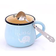 aranyos mosoly arc hajlított tea kávé ital fűszer kanál rozsdamentes acél teáskanál