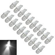 0.5W T10 Oświetlenie dekoracyjne 1 30-50lm lm Zimna biel DC 12 V 20 sztuk