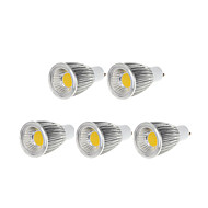 9W GU10 Lâmpadas de Foco de LED MR16 1 COB 750-800 lm Branco Quente / Branco Frio Regulável AC 220-240 / AC 110-130 V 5 pçs