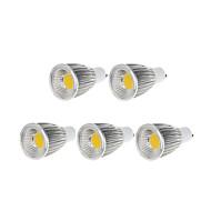 9W GU10 Żarówki punktowe LED MR16 1 COB 750-800 lm Ciepła biel / Zimna biel Ściemniana AC 220-240 / AC 110-130 V 5 sztuk