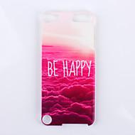 gelukkig zijn over de wolk patroon pc harde Cover Case voor ipod touch 5