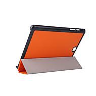 Voor Samsung Galaxy hoesje met standaard / Flip / Origami hoesje Volledige behuizing hoesje Effen kleur PU-leer Samsung Tab A 9.7