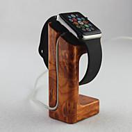 appel horloge lader staan goud perzik houten materiaal