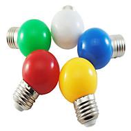 1w e27 5xsmd2835 350lm λάμπα φούσκα χρώματος μπάλα οδήγησε λαμπτήρες (220v)