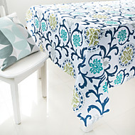 boyama çiçek baskılı masa örtüsü