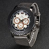 V6 Herren Armbanduhr Quartz Japanischer Quartz Edelstahl Band Silber