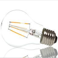 a60 4w e27 400LM 360 graden warm / koel wit kleur edison gloeidraad licht geleid gloeilamp (AC220-240V)