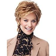Vrouw Synthetische pruiken Zonder kap Kort Golvend Blond Kostuumpruiken