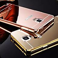 plating spiegel terug met metalen frame telefoon geval voor Galaxy noot 4 / note 5 / note 3 (verschillende kleuren)