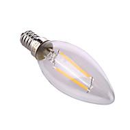 4W E14 / E26/E27 LED-kaarslampen A60(A19) 2 COB 320 lm Warm wit / Natuurlijk wit Decoratief AC 220-240 V 1 stuks