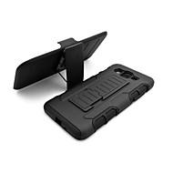 3 in 1 effect zwarte armor hybride geval met riem clip draaibare standaard voor Samsung Galaxy J5 / J7 / E5 / grand prime / kern prime