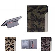 ultradunne camouflage stijl lederen tas fashion cool met riem kaarthouder geval voor ipad lucht / ipad 5