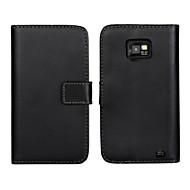 γνήσιο δερμάτινο πορτοφόλι άλλη περίπτωση με υποδοχή για κάρτα και να σταθεί υπόθεση για i9100 Samsung Galaxy S2