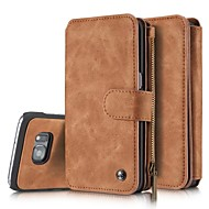 echt lederen hoes multi-functionele kaarten houder portemonnee case voor de Samsung Galaxy S7 S7 rand s6 rand plus