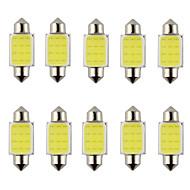 10pcs festón 31mm 36mm 39mm 3W 240lm 6000k mazorca llevó la luz blanca de la bombilla del manejo del coche / lámpara de lectura (dc12v)