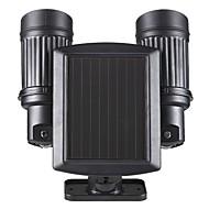 Hareket sensörü detektörü ile güneş enerjili güvenlik iki süper parlak spot ışıkları