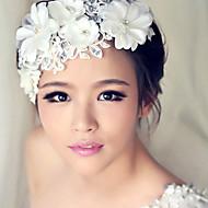δαντέλα κρύσταλλο μαργαριτάρι κορδέλα στο μέτωπο μαλλιά κοσμήματα των γυναικών για το κόμμα του γάμου