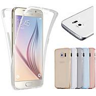 Για Samsung Galaxy S7 Edge Διαφανής tok Πλήρης κάλυψη tok Μονόχρωμη TPU Samsung S7 edge / S7 / S6 edge / S6