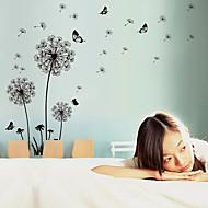 Romantik Mote Blomster Landskap Veggklistremerker Fly vægklistermærker Dekorative Mur Klistermærker MaterialeKan fjernes Kan