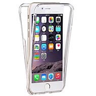 Til iPhone 8 Plus iPhone 7 iPhone 7 Plus iPhone 6 iPhone 6 Plus Etuier Transparent Heldækkende Etui Helfarve Blødt TPU for Apple iPhone 8