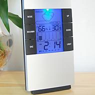 습도 벼의 LCD 디지털 온도 계측기 온도계, 습도계 온도 습도 미터 시계