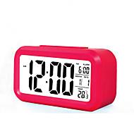 μεγάλη LCD οθόνη ηλεκτρονικό ρολόι τεμπέλης φως επαγωγή αναβολής ξυπνητήρι έξυπνη συναγερμού (διάφορα χρώματα)