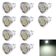 7W GU10 LED 스팟 조명 R63 16 SMD 5630 560 lm 차가운 화이트 장식 AC 220-240 V 10개